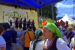 Rozhen Folklore Festival scene,Bulgaria Stock Images