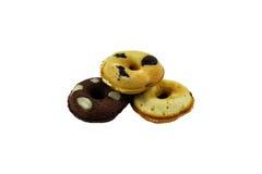 Rozijn donuts op witte achtergrond Royalty-vrije Stock Fotografie