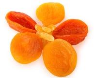 Rozijnen en droge abrikozen stock foto