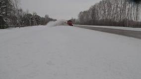 Rozjaśniać drogę od śniegu zdjęcie wideo