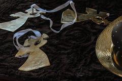 rozjaśniająca chritmas dekoracja w Grudnia popołudniu Fotografia Royalty Free