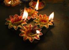 Rozjaśniam dekorował lampy Zdjęcie Stock