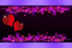 rozjarzeni serc dodatek specjalny valentines Obraz Royalty Free
