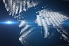 Rozjarzona światowa mapa Fotografia Stock