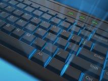rozjarzona klawiatura Obraz Stock