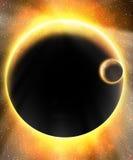Rozjarzona obca planeta Fotografia Royalty Free