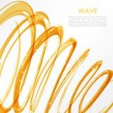 Rozjarzona pomarańcze spirala na białym tle Natura kolorów abstrakta światła techniki pojęcie cześć Fotografia Royalty Free