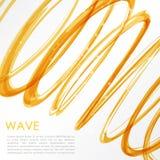Rozjarzona pomarańcze spirala na białym tle Natura kolorów abstrakta światła techniki pojęcie cześć Fotografia Stock