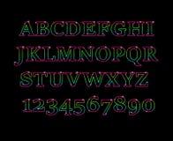 Rozjarzona pozaziemska neonowa chrzcielnica Obrazy Royalty Free