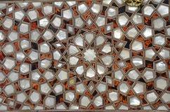 Rozjarzona Szklana sztuka Abstrakcjonistyczny texture/tło Turecki tradycja wzór zdjęcia royalty free