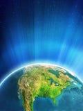Rozjarzona ziemia - Północna Ameryka Fotografia Stock