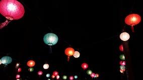 rozjarzone lampy Obrazy Royalty Free