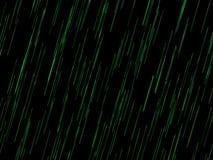Rozjarzone zielone liny komponować z czarnymi tło royalty ilustracja