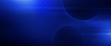 Rozjarzony Błękitny siatka sztandar ilustracji