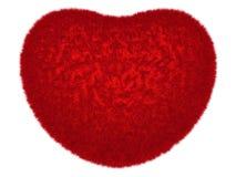 Rozjarzony czerwony zamazany serce Obrazy Royalty Free