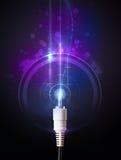 Rozjarzony elektryczny kabel zdjęcia royalty free