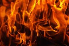 Rozjarzony Gorący węgiel drzewny Brykietuje zakończenia tła teksturę ognisko Zdjęcia Stock
