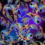 Rozjarzony kolorowy kwiecisty Paisley bezszwowy wzór Piękny ornamentacyjny jaskrawy tło Elegancja multicolor ozdobny Paisley ilustracji
