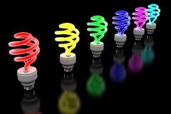 rozjarzony lightbulb Zdjęcia Stock