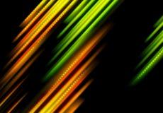 Rozjarzony zieleni i pomarańcze lampasów tło Obrazy Royalty Free