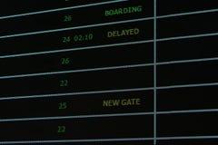 Rozkładu zajęć seans i poinformowany lota status w lotnisku obrazy stock