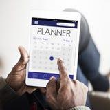 Rozkład agendy Kalendarzowego przypomnienia organizatora Osobisty pojęcie Obrazy Stock