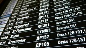 Rozkład zajęć cyfrowa deska przy lotniskiem zdjęcie wideo