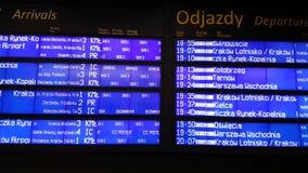 Rozkład zajęć cyfrowa deska przy lotniskiem zbiory wideo