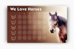 Rozkład zajęć dla końskich kochanków Zdjęcia Stock