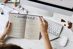 Rozkładu czasu aktywności Planistyczny pojęcie Zdjęcie Royalty Free