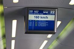 rozkładu deskowy elektroniczny pociąg Obraz Royalty Free