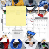 Rozkładu planisty zadania agendy listy kontrolnej pojęcie Zdjęcie Stock