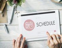 Rozkładu spotkania agendy planisty Nominacyjny pojęcie Fotografia Stock