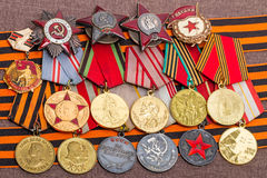 Rozkazy i medale druga wojna światowa Zdjęcia Stock