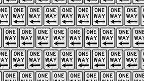 Rozkazywać Grif Z lewej strony Wskazywać Jeden sposobu ruchu drogowego znaki na ścianie royalty ilustracja