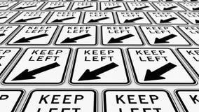 Rozkazywać siatka utrzymanie Opuszczać ruchów drogowych znaki royalty ilustracja