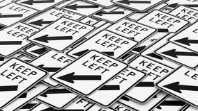 Rozkazywać stos utrzymanie Opuszczać ruchów drogowych znaki ilustracji