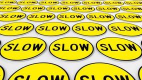 Rozkazywać szyk kolorów żółtych Wolni znaki ilustracji
