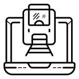 Rozkazywać taborowego bilet online royalty ilustracja