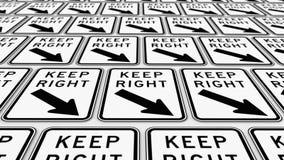 Rozkazywać przygotowania utrzymanie prawicy znaki Obraz Stock