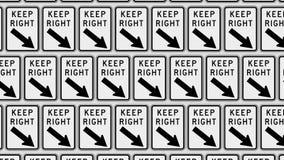 Rozkazywać siatka utrzymanie prawicy znaki Zdjęcie Royalty Free