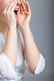 rozkrzyczana kobieta Zdjęcie Royalty Free