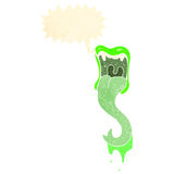 rozkrzyczanego potwora usta retro kreskówka Obraz Royalty Free