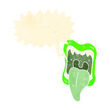 rozkrzyczanego potwora usta retro kreskówka Zdjęcia Stock