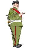 rozkrzyczany żołnierz ilustracji