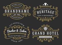 Rozkwita ramę dla etykietek, sztandar, logo royalty ilustracja