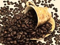 rozlana zamówi kawę Obraz Royalty Free