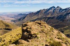 Rozległa dolina, Lesotho Obraz Stock