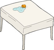 Rozlewająca woda na stole ilustracji