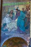 rozlewający krwionośny kościelny wybawiciel Epizodów akty Jezus C obraz royalty free